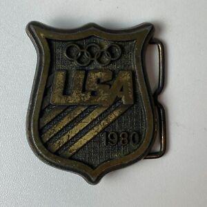 1980 USA Olympic Brass Belt Buckle