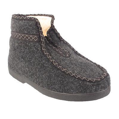 Para Hombre Zapatillas De Señoras Para Mujer Tobillo Botas De Piel Forrada de Invierno Cálido De Lana Zapatos Tallas