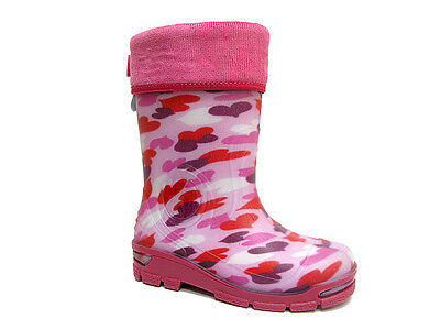 Kids Girls Boys Wellington Boots Wellies Rainy Boots EUR 20-36 / Uk1-2.5