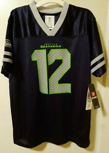 Hot NFL Team Apparel Youth Seattle Seahawks #12 Fan Jersey New XL | eBay  supplier
