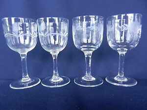 CRYSTAL-SHERRY-GLASSES-LIQUEUR-GLASSES-HAND-CUT-1950s-2-STYLES-FINE-CRYSTAL