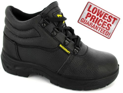 Chukka Safety Trainers Leather Mens Work Boots Steel Toe Cap Midsole Size 4-12