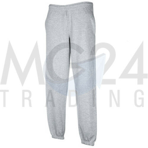 Fruit of the Loom Joggers Size S M L XL XXL IN Black Blue And Grey Elastic Band
