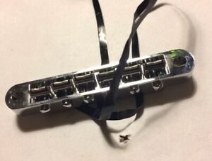 1st Gen Genuine Gibson Tronical Powertune Robot Tune-O-Matic Bridge, 1.0 + Cable