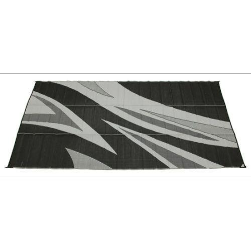 Faulkner 46341 8 X 20 Black And Grey Summer Wave Design Reversible Patio Mat Online Ebay