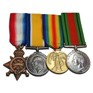 WW1-Medals-1914-15-Star-British-War-Victory-amp-Defence-medal-Royal-Navy-Army-NEW
