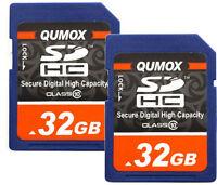 64GB 2x 32GB Class 10 Memory Card 32G SD HC SDXC Ultra High Speed Camera