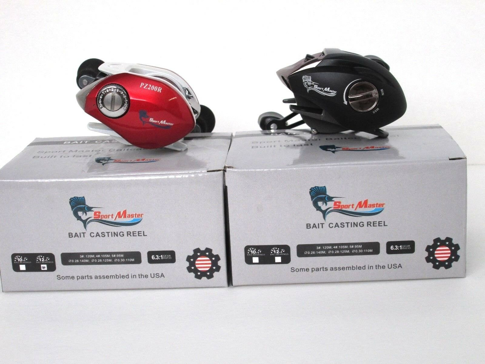Two  Low-Profile 11BB and 12BB Right Hand Baitcasting  Reel  Free Shipping