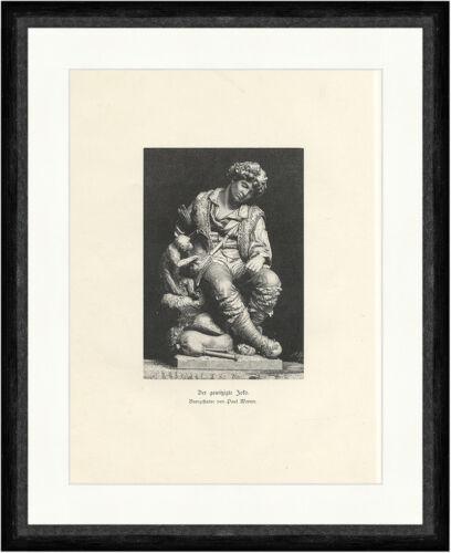 Der gewitzte Joko Paul Werner Statue Affe Schausteller Dieb Faksimile/_A 1626