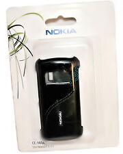 Nokia Back Cover Handy Case CC-3010 Schwarz mit Leder für NOKIA C6-01 -  OVP