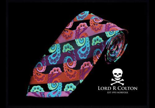 Lord R Colton Masterworks Tie New Portofino Black /& Copper Pink Silk Necktie