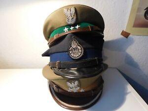 3  x  Mützen Polnische Armee  - Streitkräfte  Polen Offiziere etc Alte