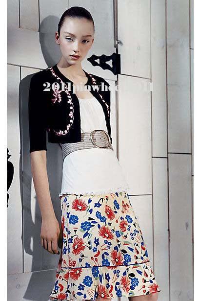 Anthropologie  Floral  Avalon Silk Skirt  XS S