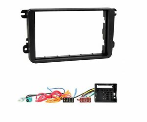 Doble-DIN-Kit-de-montaje-CD-Radio-Estereo-Fascia-Para-VW-Golf-MK5-VW-Caddy-Touran