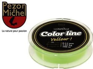 Nylon Pezon /& Michel Eaux vives Color Line Yellow 0.24mm 4.340kg 150m