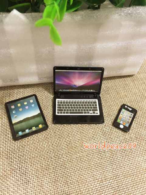 Dollhouse Black Brand Tablet Computer 1:6 Look Model Miniature Accessories