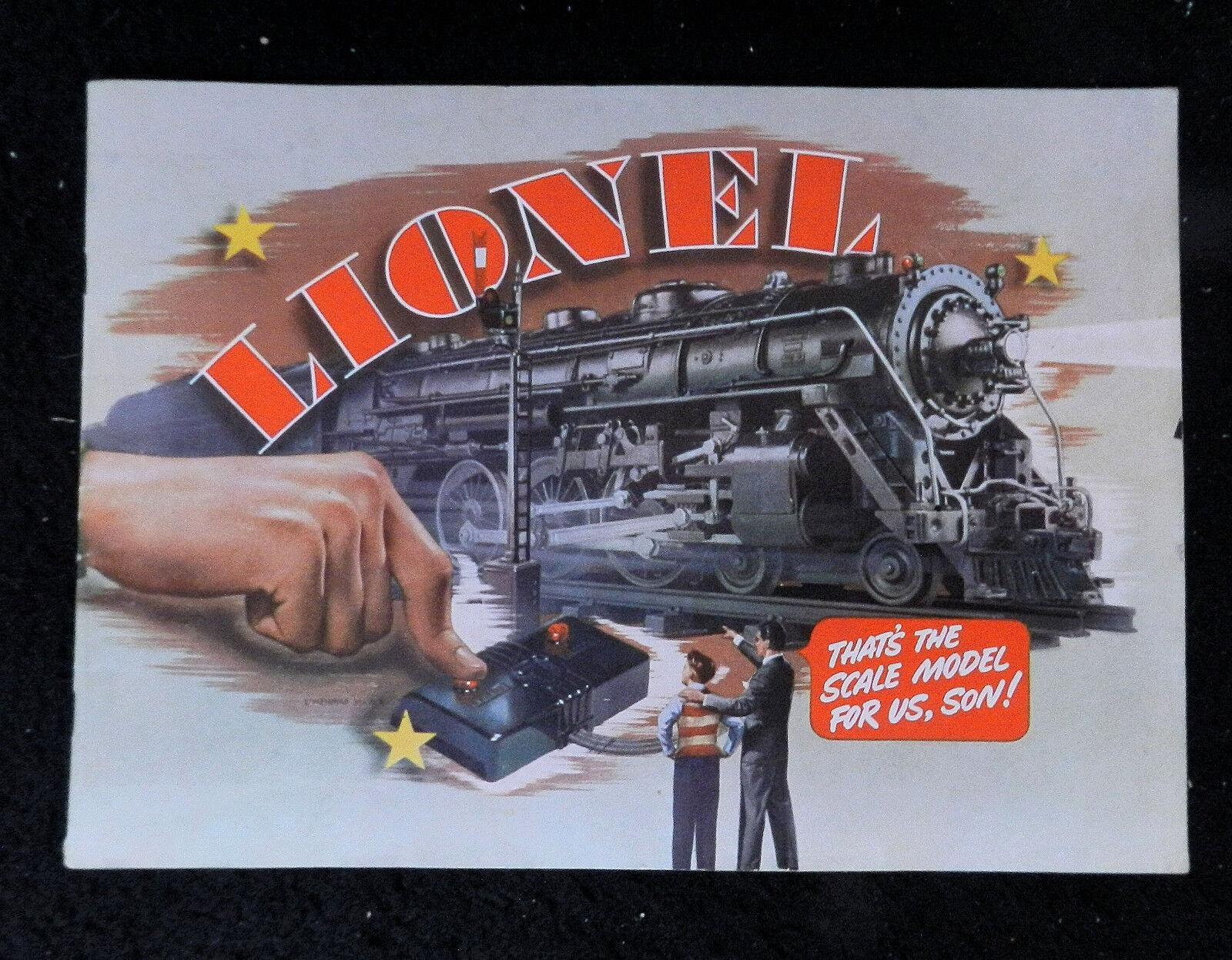 1940 LIONEL MODEL TRAINS CATALOG  O GAUGE CLEAN