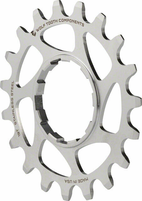 Wolf Tooth Components Single Speed Stainless Steel Cog 19T Compatible with