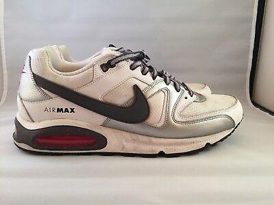 Nike Air Max Command Men's Shoes Size 13 White Dark Grey Metallic Silver Black | eBay