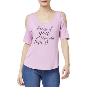 04f276ddb2a642 Image is loading Thalia-Sodi-Off-The-Shoulder-Graphic-T-Shirt-