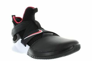 super popular a236c 5658f Image is loading NIKE-LEBRON-SOLDIER-XII-BLACK-UNIVERSITY-RED-WHITE-