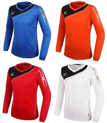 Intellective Mizuno Men Game 2 L/s T-shirts Jersey Training Blue White Top Shirt P2ma502326 Clear And Distinctive Men's Clothing