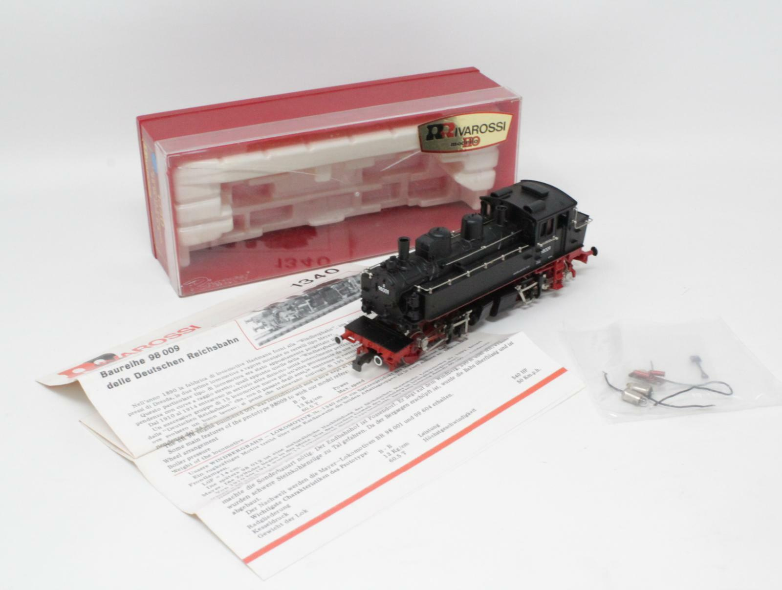 Rivarossi h0 1340 Steam Locomotive complex br98009 0-4-4-0 Dr [mb3-016]