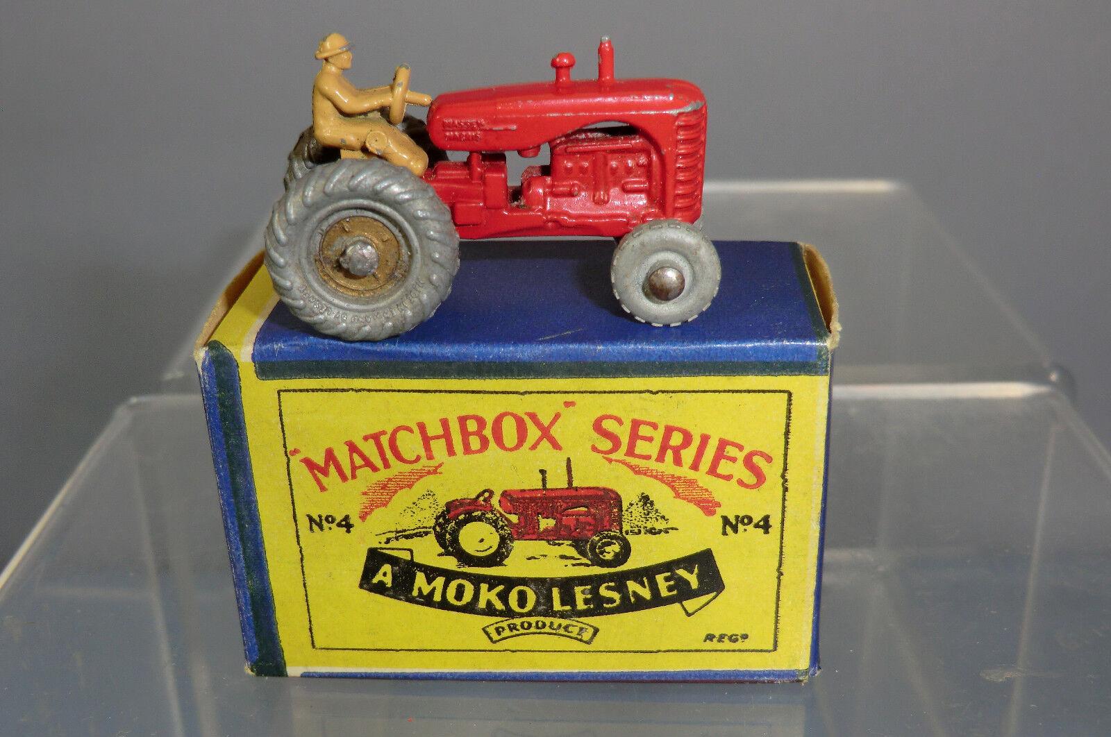 MATCHBOX MOKO LESNEY MODEL No.4b MASSEY-HARRIS TRACTOR  NO MUDGUARDS    VN MIB
