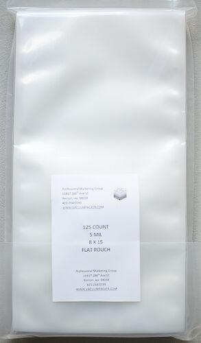 5 Mil 8x15 125 Flat Commercial Chamber Bag Sous Vide Vacuum Sealing Vacmaster Ebay
