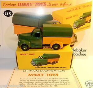 Dinky Toys Atlas Studebaker Camionnette Bache Bicolore 1/48 Ref 25q Dans La Boîte