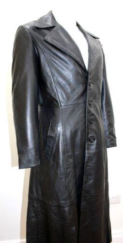 Dracula entero para 2005 película cuero real estilo hombres Napa abrigo de negro de Nuevo de suave cuerpo CTBqn
