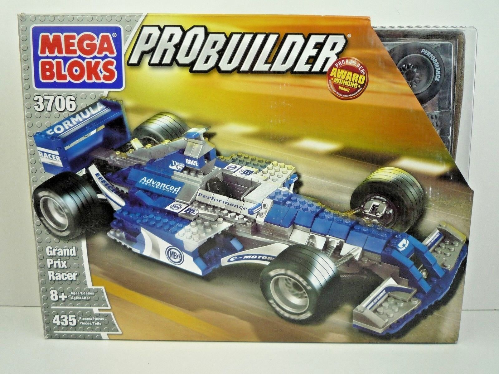 MEGA Bloks PRO BUILDER 3706 Grand Prix Racer 435 Pezzi SIGILLATO
