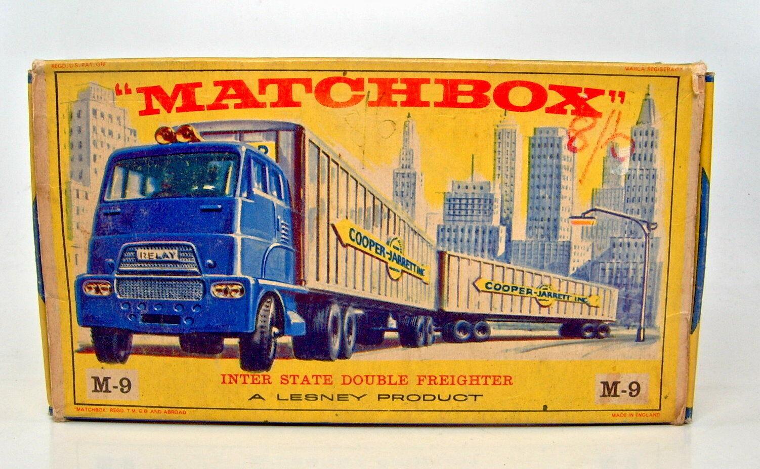 Matchbox Major Pack M9 Interstate Double Freighter leere  E  Box