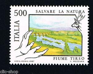 ITALIA-UN-FRANCOBOLLO-SALVATORE-DELLA-NATURA-FIUME-TIRSO-1987-nuovo