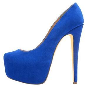 Fashion-Womens-Suede-Closed-Toe-Platform-High-Heel-Classic-Pumps-Stiletto-shoes