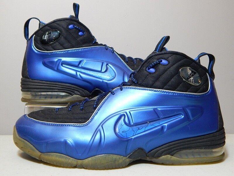 Nike - - schuhe - - 2009 - 1 / 2 halbcent - royal - blau - foamposite - größe. 24aadf