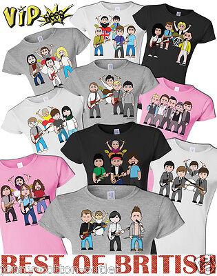 VIPwees Childrens T-Shirt Best Of British Bands Music Inspired Choose Design