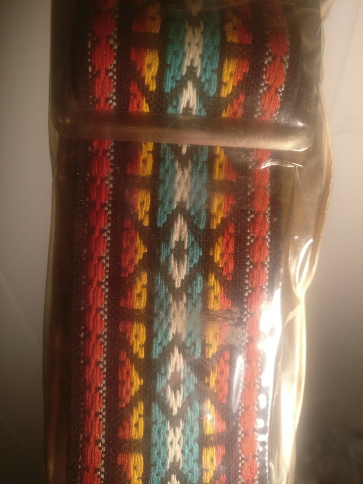 BRAND NEW  Vtg Ventura Bruno & Son Najavo Design Woven Guitar Strap Made in USA