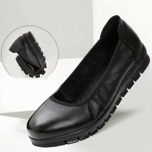Hot Womens Loafers Work Occupational Slip On Slip Nursing Resistant Flats Shoes
