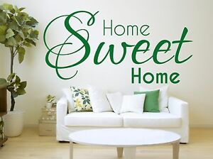 Image Is Loading Home Sweet Wall Sticker Living Room Vinyl