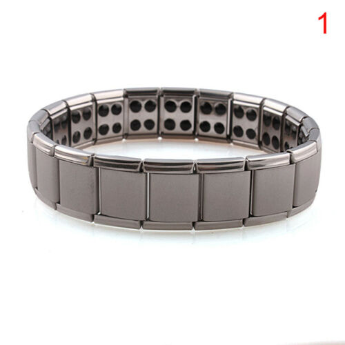 Titanium Steel Elastic Stretch Bracelet For Men Women Energy Health Bangle VQ