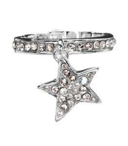GUESS-JEWELS-anello-donna-UBR81019-L-acciaio-stella-pendente-brillantini-fedina