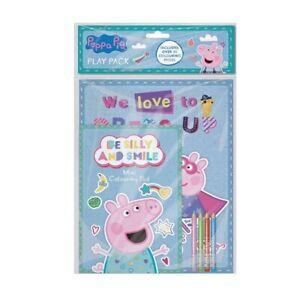 Peppa Pig Play Packung A4 Malbuch & A5 Pad Mit Buntstifte Partytüte