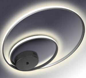 Details zu LED Deckenlampe Deckenleuchte Lampe Wohnzimmer Design Kalt  Neutral Ringe 32W