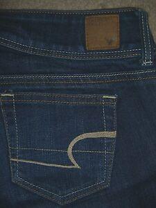 Responsible American Eagle Outfitters Woman's Denim Blue Wide Leg Jeans/pants Size 14 Short Jeans