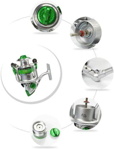 USDOX Metal Reel Fishing Rod Combo Carbon Telescopic Kit 2.28M 7.48FT Hooks Line