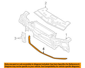 s l300 ford oem mustang radiator core support lower splash shield deflector