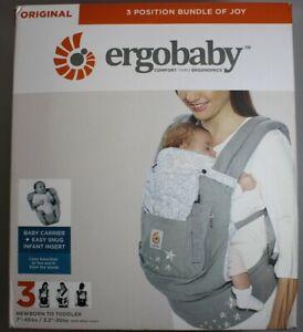 DISPLAY-Ergobaby-3-Position-Bundle-of-Joy-Easy-Snug-Infant-Insert-Galaxy-Grey