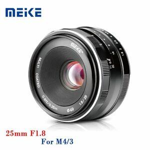 Meike-25mm-F1-8-APS-C-Manual-Fix-Focus-Camera-Prime-Lens-M4-3-Mount-F-Olympus