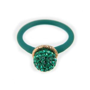 LE-CORONE-anello-bollicine-verde-castone-argento-dorato-gambo-verde